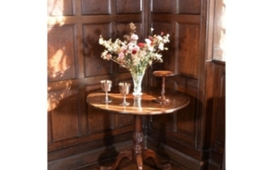 A George III mahogany tripod table, circa 1770