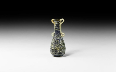 Greek Hellenistic Glass Vessel with Handles