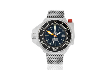 Omega. A stainless steel automatic diver's calendar bracelet watch