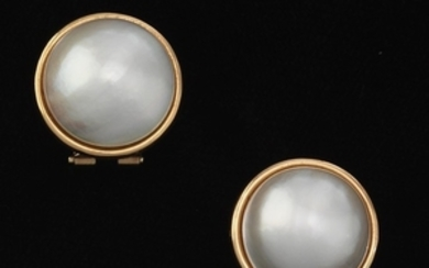 A Pair of Mabe Pearl Earrings