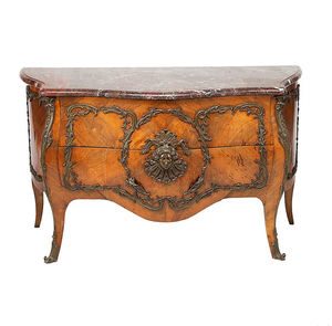 PROBABLY JEAN-CHRÉTIEN ENGEL OR JEAN-MICHEL ENGELLANDER (ACTIVE IN PARIS IN THE FIRST THIRD OF THE 19TH CENTURY). French Regency-style chest of drawers in rosewood and bronze, first half of the 19th Century.