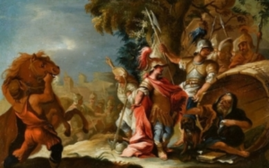 German School, circa 1700, Alexander the Great Discovers Diogenes in the ...