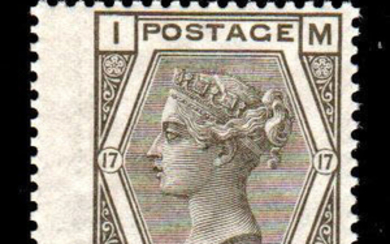 Great Britain 1880 - 6 d grey - plate 17 - Stanley Gibbons N. 147