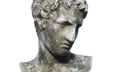 Greek replica bust of the head of the Victorious Athlete