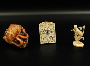 3 PIECE MISC. LOT OF CARVED ITEMS