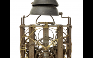 ANONYMOUS, probably France Iron clock movement, with verge escapement...