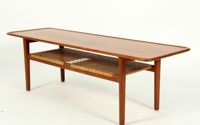 Hans J. Wegner. Sofa table in solid teak, model AT10,