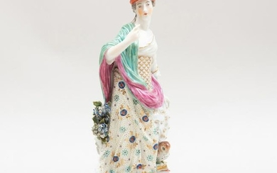 Chelsea Porcelain Figure of Minerva with Owl
