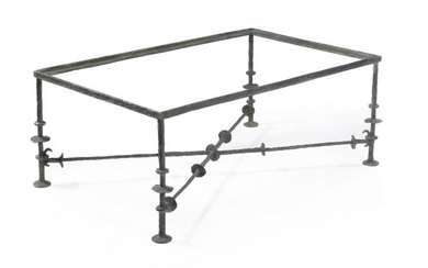 Diego Giacometti (manner of), the bronze base of rectangular table