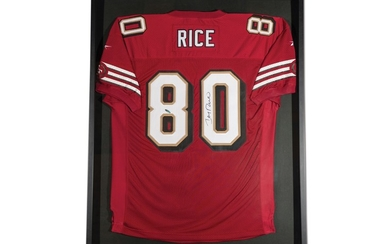 Jerry Rice San Francisco 49ers Autographed Jersey