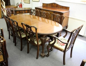 Enjoyable Lot Art A 1920S Chippendale Revival Mahogany Dining Room Cjindustries Chair Design For Home Cjindustriesco