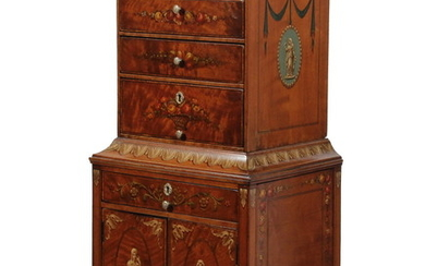 ENGLISH MINIATURE CHEST ON CHEST