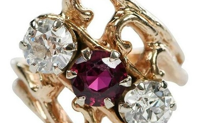 14kt. Ruby and Diamond Ring