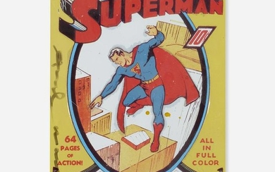 Andy Warhol signed Superman sign