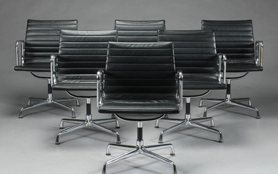 Charles Eames. Lounge chair, Model EA-108 in black leather (6)