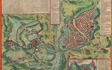 Braun & Hogenberg, Map of Jerusalem and the Temple, Year 1572