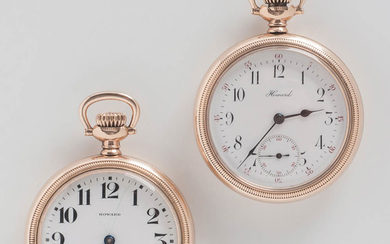 Two E. Howard Series 11 Open-face Watches