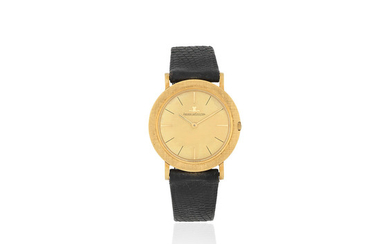 Jaeger-LeCoultre. An 18K gold manual wind wristwatch