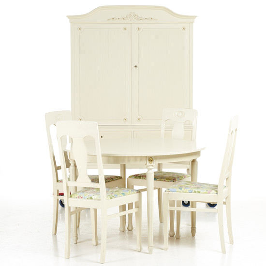 Dining room group (6 dlr) Gustavian style