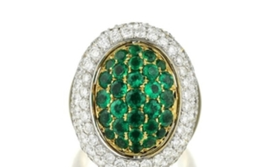 An Emerald and Diamond Flip Ring