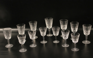 12 PC. LOT OF SIGNED WATERFORD STEMWARE