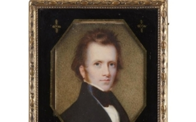 Attributed to Anson Dickinson (1779-1852) Portrait miniature of a...