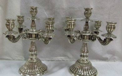 Candelabra - .915 silver - 1,550 g - Spain - First half of the 20th century