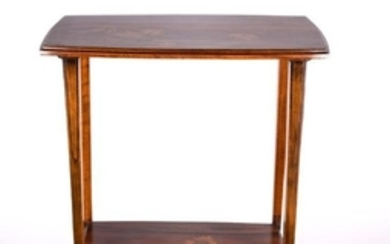 EMILE GALLE' Table in marquetiere with wood of various