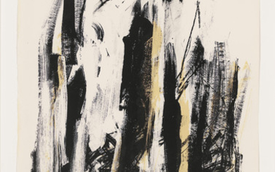 JOAN MITCHELL (1925-1992), Arbres (Black and Yellow)