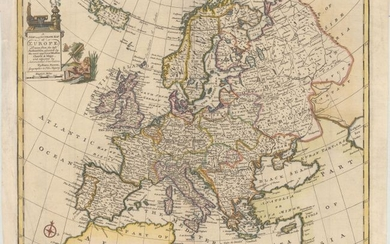 """A New and Accurate map of Europe Drawn from the Best Authorities, Assisted by the Most Approved Modern Charts & Maps, and Adjusted by Astronomical Observations"", Bowen, Emanuel"