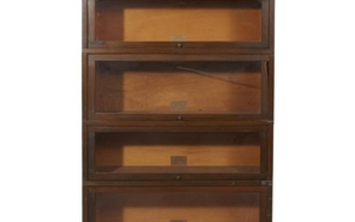 A lawyer's wood stacking bookcase 20th century W: 34...