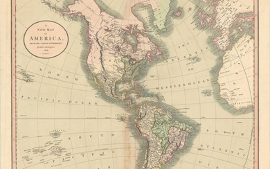 """""""A New Map of America, from the Latest Authorities"""", Cary, John"""