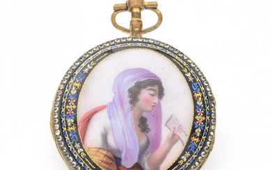 POCKET WATCH WITH ENAMELS