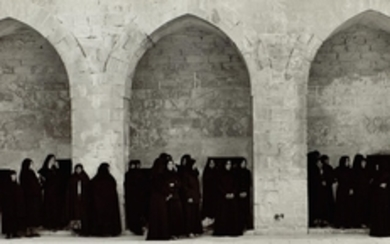 SHIRIN NESHAT | 'VEILED WOMEN IN THREE ARCHES' (FROM THE SERIES SOLILOQUY), 1999