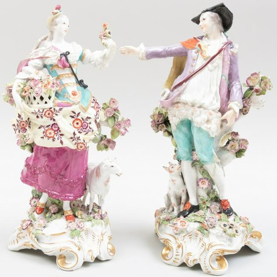 Large Pair of Chelsea Porcelain Figures of the Imperial