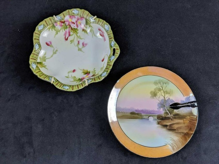 Hand Painted Antique Porcelain Plates