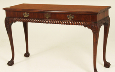 CHIPPENDALE STYLE MAHOGANY CONSOLE TABLE