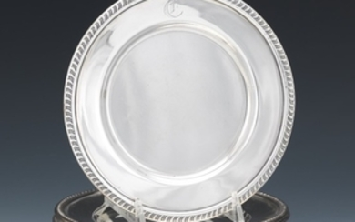 Eight Mueck-Carey Sterling Silver Bread Plates