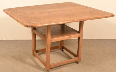 American 19th Century Mixed Wood Chair Table.