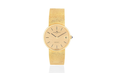 Baume & Mercier. An 18K gold automatic calendar bracelet watch