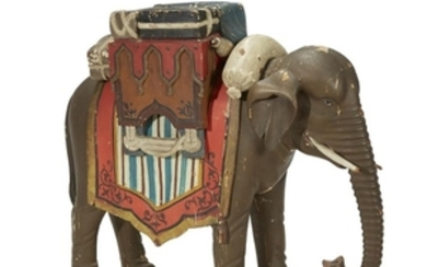 Carved and painted elephant trade sign late 19th/early 20th...