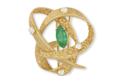 A GEM-SET BROOCH, BY CHAUMET,...