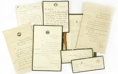 Royal Commissions: 12 various documents & letters from Downing Street & the Foreign & Commonwealth Office