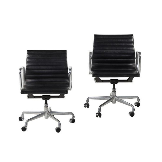 Charles Eames Aluminum Group Chairs (2)