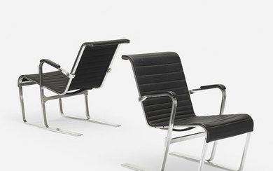 After Marcel Breuer, lounge chairs, pair