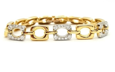 18 kts. Yellow gold - Bracelet Diamond