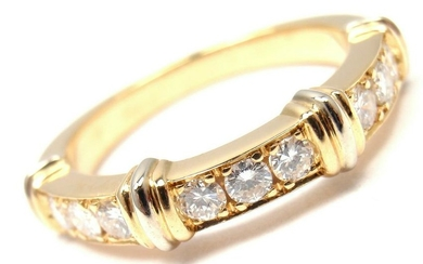 AUTHENTIC! CARTIER 18K YELLOW GOLD DIAMOND BAND RING,