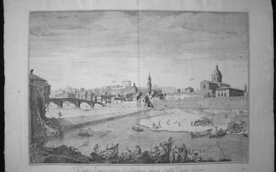 Zocchi, Giuseppe: View of the City of Florence from the Loggia, Year 1754