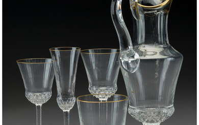 A Thirty-One-Piece St. Louis Apollo Pattern Glassware Service (introduced 1979)