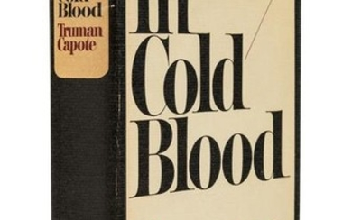 CAPOTE, Truman (1924-1984). In Cold Blood. New York: